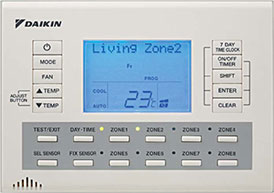 Daikin Air conditioning Ducted 8Zone Controller