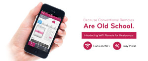LG ducted heating is controllable via wifi from your phone